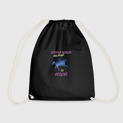Unicorn queens are born in august - Drawstring Bag