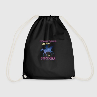 Unicorn queens are born in september - Drawstring Bag