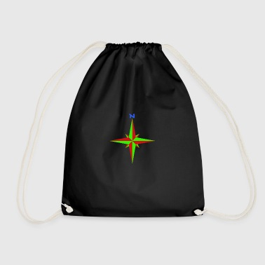 Windrose / compass rose / compass / compass - Drawstring Bag