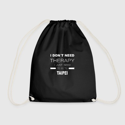 i dont need therapy i just need to go to TAIPEI - Drawstring Bag