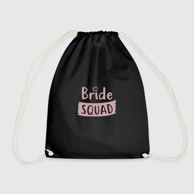 Bachelorette Party - BRIDE SQUAD - Drawstring Bag