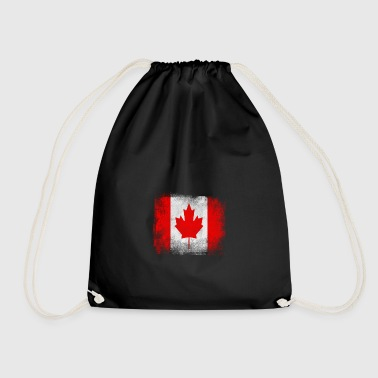 Canada Flag Proud Canadian Vintage Distressed - Sacca sportiva