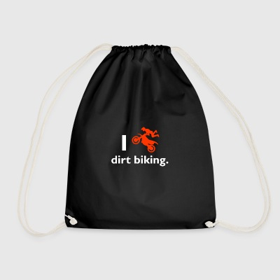 Dirt biking - Drawstring Bag