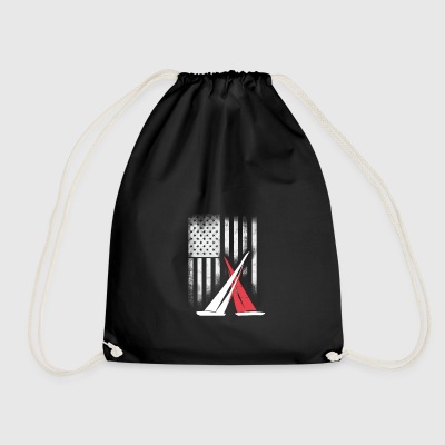 American sail sailing americas cup match Race foil - Drawstring Bag