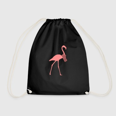 Flamingo with scarf - Drawstring Bag