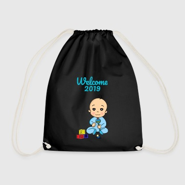 Welcome 2019 baby pregnancy - Drawstring Bag