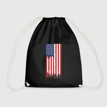 American flag - Drawstring Bag