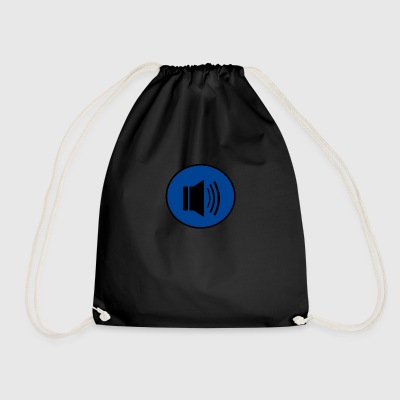 Audio button design - Drawstring Bag