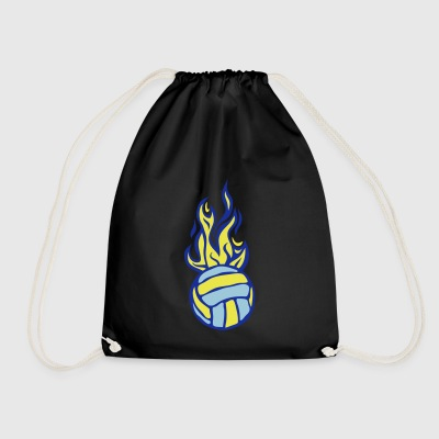 volleyball ball waterpolo flame fire - Drawstring Bag