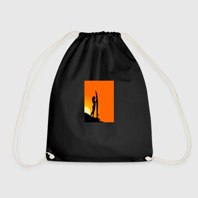 Surfer girl - Drawstring Bag
