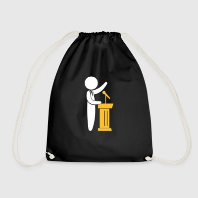 A Politician Speaks To His Constituents - Drawstring Bag