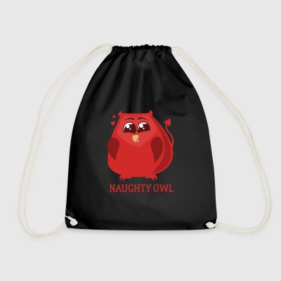 Naughty Owl St Valentines Day Gift Lovers - Drawstring Bag
