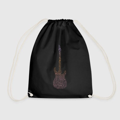guitar words - Drawstring Bag