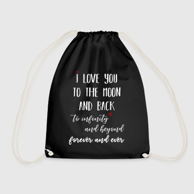 I love you to the moon - Drawstring Bag