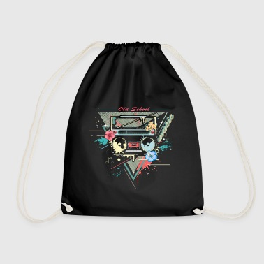 Ghettoblaster retro graffiti - Drawstring Bag