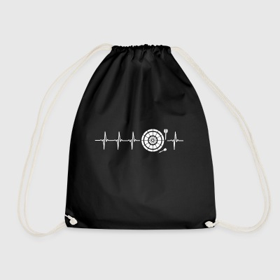 I love Darts (darts heartbeat) - Drawstring Bag
