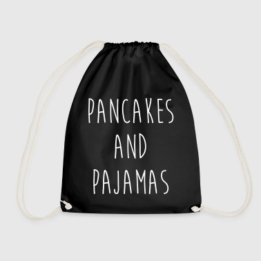 Pancakes And Pajamas Funny Quote - Drawstring Bag