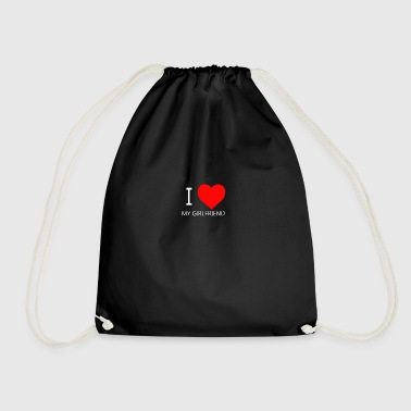 I LOVE MY GF CAP - Drawstring Bag