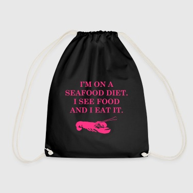 Diets with seafood - Drawstring Bag