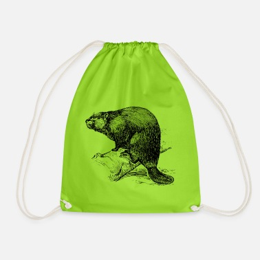 Castor The Beaver - Drawstring Bag