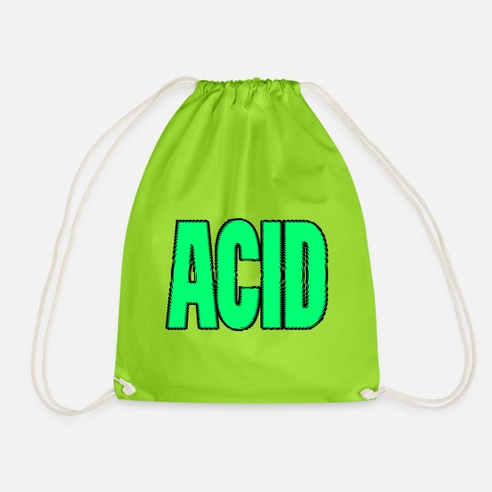 "Sour Bags & Backpacks - ""ACID"" Green - Drawstring Bag neon green"