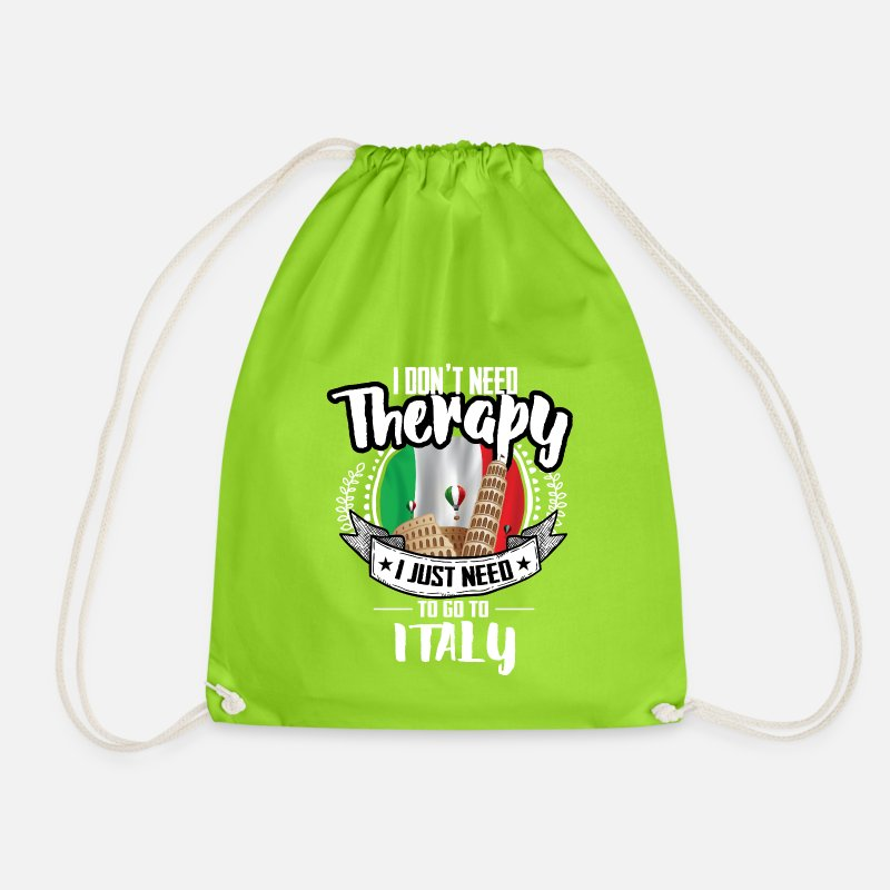 Therapy Bags & Backpacks - Therapy Italy - Drawstring Bag neon green