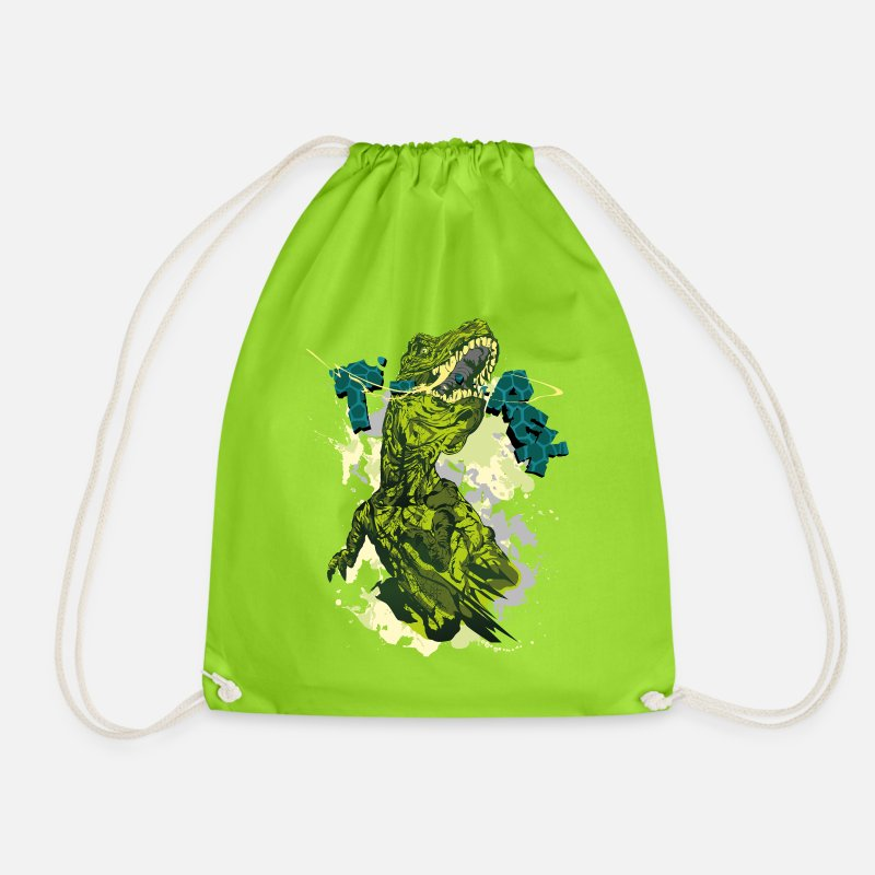 Dinosaur Bags & Backpacks - Animal Planet T-Rex - Drawstring Bag neon green
