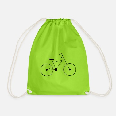 Man bicycle - Drawstring Bag