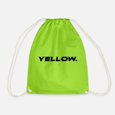 Yellow Yellow Yellow Statement - Drawstring Bag