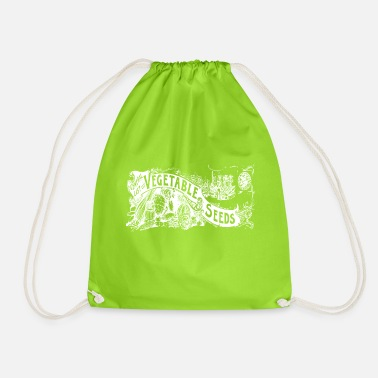 Vegetable and Seeds white - Drawstring Bag