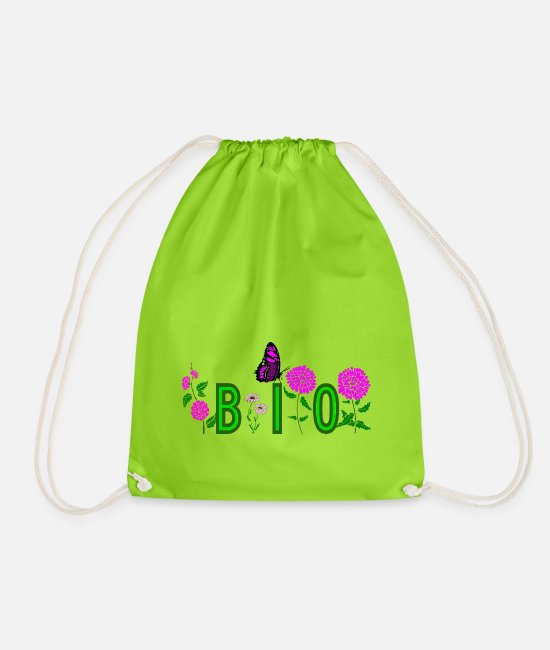 Bless You Bags & Backpacks - BIO - Drawstring Bag neon green