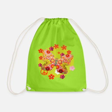 Butterfly * GOA * FULL MOON * TRANCE * Butterfly - Drawstring Bag