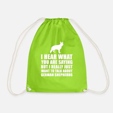 Funny German Shepherd Gift Idea - Drawstring Bag