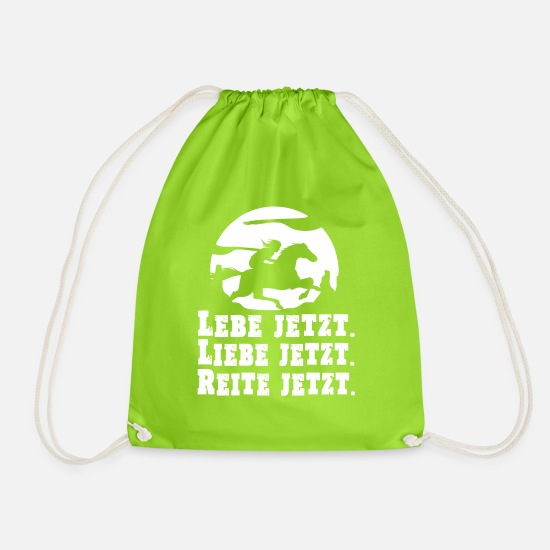Show Jumping Bags & Backpacks - Horse Riding & Horses - Ride now - Drawstring Bag neon green