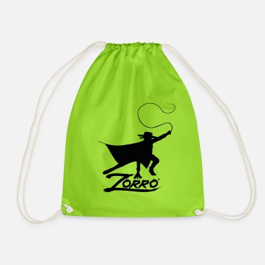 Zorro The Chronicles Silhouette With Whip - Drawstring Bag
