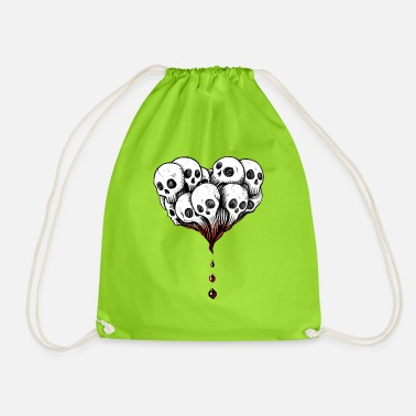 Skulls heart - Drawstring Bag