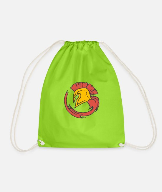 Sparta Bags & Backpacks - Sparta! New design - Leibl Designs - Drawstring Bag neon green