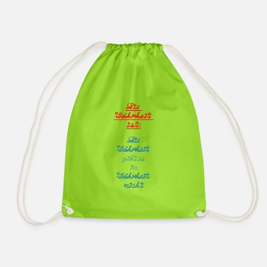 Truth The truth is truth is in truth ... - Drawstring Bag