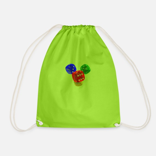 Cube Bags & Backpacks - cube - Drawstring Bag neon green