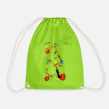 cola cherry 05 - Drawstring Bag