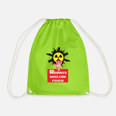Nuclear Power Nuclear power nuclear phase-out yes and against nuclear power - Drawstring Bag