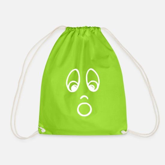 ed3a599a02 Pâques Sacs et sacs à dos - visage étonné vecteur blanc - Sac à dos cordon