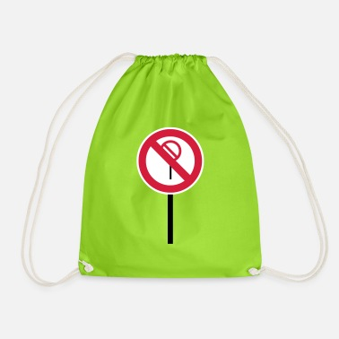 Prohibition Sign Prohibitions prohibited - Drawstring Bag