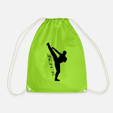 Kick High kick kick black - Drawstring Bag