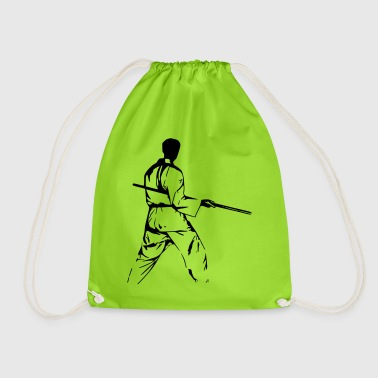 stick fighter - Drawstring Bag