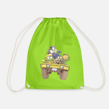 Wind The wind in the willows illustration - Drawstring Bag