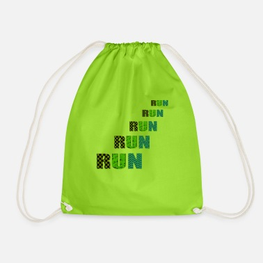 Running run run run run - Drawstring Bag