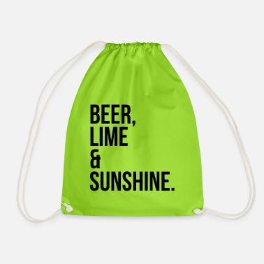 Beer, Lime & Sunshine Funny Quote - Gymbag