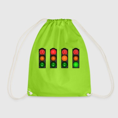 traffic light - Drawstring Bag