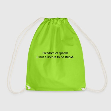Freedom of speech - Drawstring Bag